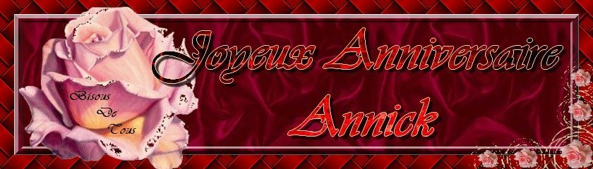 Joyeux Anniversaire Annick